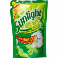 SUNLIGHT PENCUCI PIRINGPOUCH LIME/LEMON 800 mL, paket 2pc