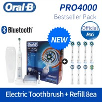 [Braun] BRAUN Oral-b electric toothbrush Pro4000 + Refill 8ea (use for 2 years) / gum care mouse