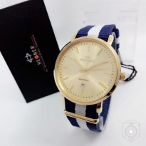 HEGNER KANVAS TANGGAL ORI ANTI AIR NAVY WHITE COVER FULL ROSEGOLD