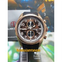JAM TANGAN PRIA ALAIN DELON AD421-1542C ROSE GOLD BROWN ORIGINAL MURAH