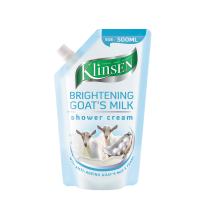 Klinsen Shower Cream Brightening Goat's Milk(Refill) - 500 ML