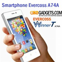 Smartphone Evercoss A74A Android Kitkat|Dual SIM LCD 4 inch QuadCore 1.2Ghz RAM 1GB Internal 8GB