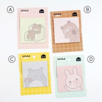 Tutula Friends Sticky Notes Post-its - Label Note Kertas Catatan Memo Tempel Ukuran Kecil Lucu Murah