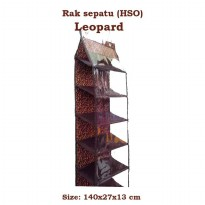 HSOZ Leopard (Hanging Shoes Organizer Zipper) Rak Sepatu Gantung Retsleting