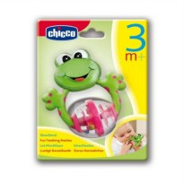 Chicco Fun Teething Rattle Frog Teether Baby Mainan Gigitan Bayi Anda