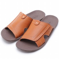 Dr.Kevin Leather Sandal 17163 Tan