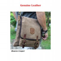 TAS KANVAS SLEMPANG BOURZU COOPER Genuine Leather