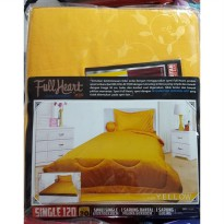 Sprei My Love Full Heart Polos Single 120 x 200 Tinggi 30cm Yellow
