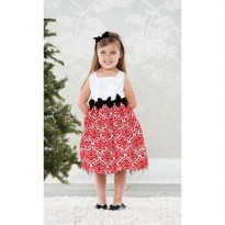 Mudpie Red Damask Dress #144A012