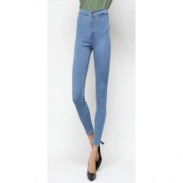 Mobile Power Ladies  Long Pants Highwaist Jeans - Blue A2502