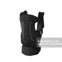 Side Plus All Mesh Baby Carrier - Black