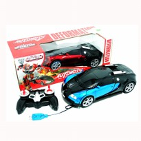 RC CAR Robot 2IN1 DEFORMATION Transformer BUGATI 999-2