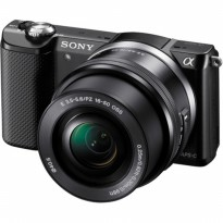 Sony Alpha A5000 Hitam Kamera Mirrorless + Memory SD 8GB