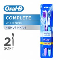 Oral B Sikat Gigi Complete Whitening Soft 2s
