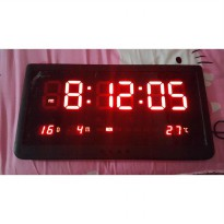 Digital Clock size 48 cm x 25 cm Type JH4825 / Jam dinding digital