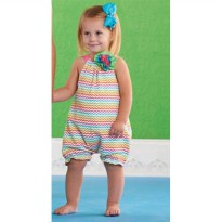 Mudpie Colorful Romper #1132111
