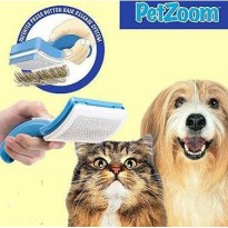 PET ZOOM Grooming Brush for CATS & DOGS / SISIR HEWAN