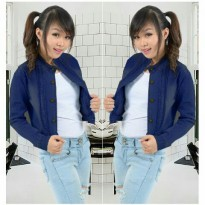 Joy Collection Atasan Jacket Jeans Wanita Dina