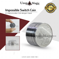 Impossible switch coin - alat sulap - sulap koin - merubah koin