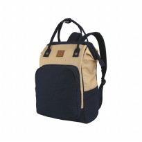 CATENZO Unisex Backpack MB 006 - Tas Ransel Laptop Canvas - Cream Blue (New Arrival)