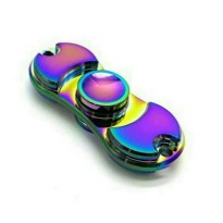 edc fidget spinner rainbow multi color two side bar