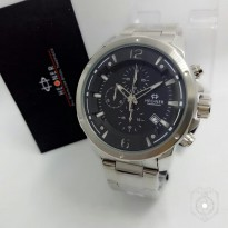 JAM TANGAN PRIA HEGNER CHRONO 5035 ACTIVE ORI ANTI AIR SILVER (BLACK)