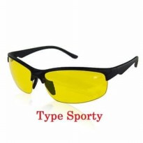 Night View Sporty - Kacamata Kuning Anti UV