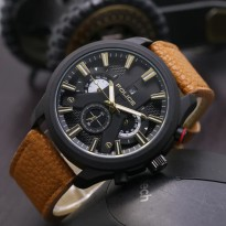 JAM TANGAN PRIA POLICE KULIT CHRONO OFF BROWN (GOLD)