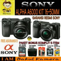 (Best Deals) SONY ALPHA A6000 KIT 16-50MM PAKET YES / SONY A6000 / SONY ALPHA A6000