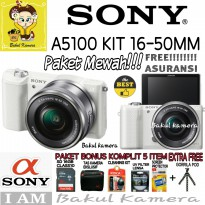 (Best Deals) SONY ALPHA A5100 L KIT Lensa SEL 16-50MM / ILCE-5100L / ALPHA A5100