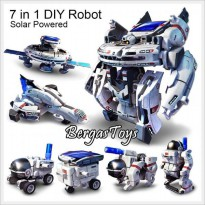 Solar Robot 7 In 1 Rakit Diy Toy Spaceship Mainan Edukasi