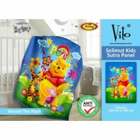 Selimut Vito Kids Sutra Panel 100x140cm - Winnie The Pooh