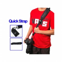 Rajawali Quick Rapid Sling Strap Kamera - Black - For DSLR-Mirrorless