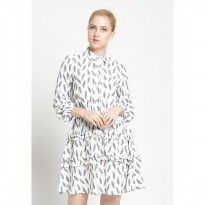 Agatha Ruffle Arround Skirt Dress 4636.D - White Grey