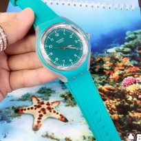 SWATCH RUBBER GREEN TOSCA