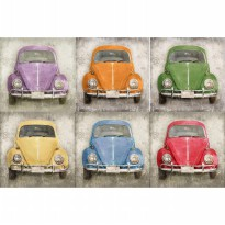 Car Vintage Digital Painting Poster 20cm x 30 cm