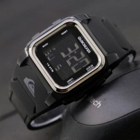 JAM TANGAN PRIA QUICKSILVER RUBBER DIGITAL KOTAK BLACK