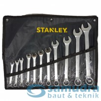 Kunci Ring Pas Set 11 Pcs STANLEY Ukuran 8-24 mm STMT80942-8