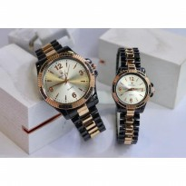 ROLEX RANTAI COUPLE BLACK ROSEGOLD COVER WHITE