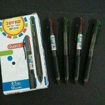 [12 pcs] Pulpen Joyko 4 Warna BP-213 Quaco atk