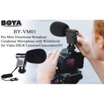 Mic BOYA BY-VM01 Mini condenser microphone For DSLR Vloging Vloger