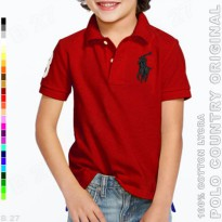 POLO COUNTRY Original C4-24 Polo Shirt Kids Cotton Lycra Maroon
