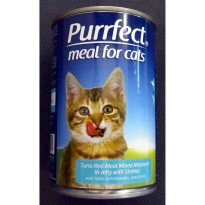 Makanan Kucing / Purrfect Tuna Mackerel with Shrimp 400g 020519