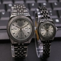 ROLEX RANTAI SEPASANG CHRONO OFF BLACK COVER WHITE