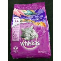 Makanan Kucing Whiskas Mackerel 1.2 kg (1 Years +)