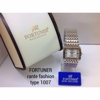 FORTUNER FASHION 1007 RANTAI TIKAR ORI ANTI AIR SILVER ROSEGOLD (WHITE