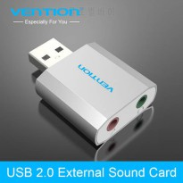 [globalbuy] Vention Free Drive USB 2.0 External Sound Card 5.1 Channel Al Mg Alloy USB Ext/4949337