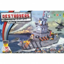 Block Kapal Destroyer 694 pcs SJ0028