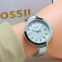 FOSSIL TANGGAL SILVER COVER WHITE.