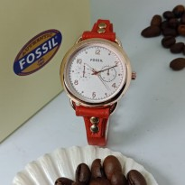FOSSIL CHRONO VARIASI RED COVER WHITE